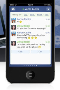 chat facebook iphone