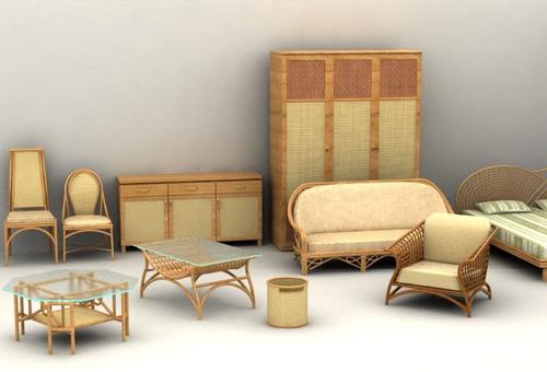 33 modelos 3d muebles rattan para descargar - Muebles de ratan para jardin ...