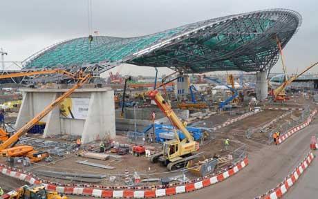 Centro-Acuático-Londres-2012-construcción