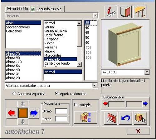 Autokitchen, programa para el diseño de cocinas