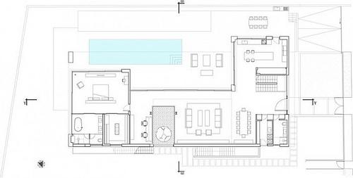 planta arquitectonica residencia