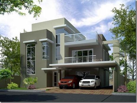 fachada casas de dos plantas