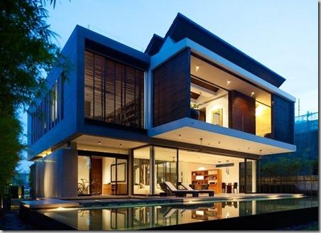 lujosa casa de dos niveles