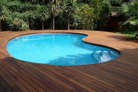 piscina co deck madera