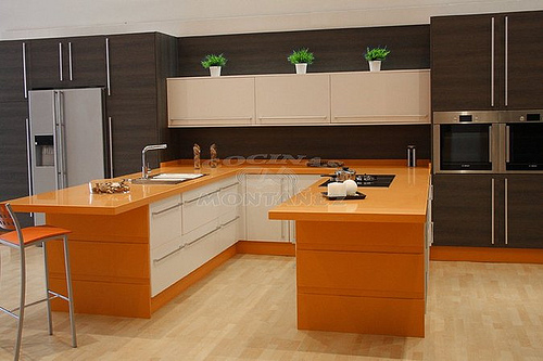 Cocinas minimalistas for Disenos de cocinas integrales para espacios pequenos