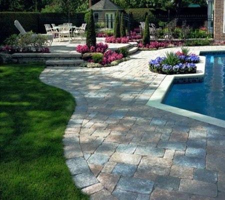 deck piscina piedra natural