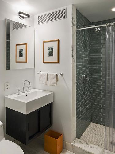 diseños de baños pequeños modernos