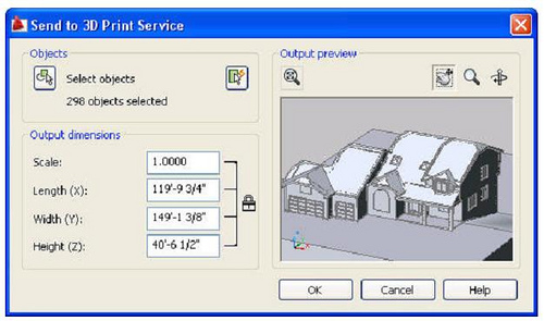 Now you can print in 3d in Autocad 2010