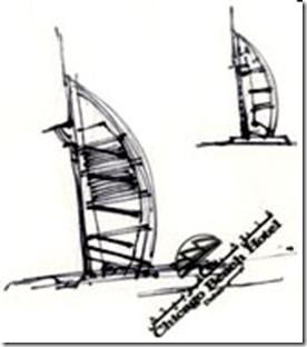 burj al arab sketch