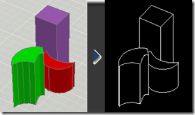 Convert 3d drawings to 2d in Autocad with Flatshot
