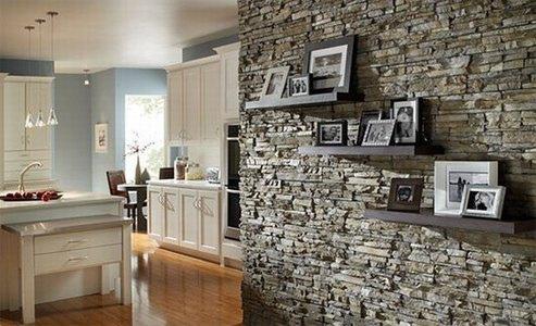 La piedra como revestimiento en la decoracion de paredes for Decoracion con piedras en interiores