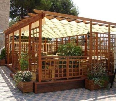P rgolas de madera dale un toque de elegancia a tu jardin o terraza arquigrafico - Como fabricar una pergola ...