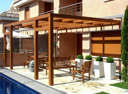 P rgolas de madera dale un toque de elegancia a tu for Como hacer una terraza rustica