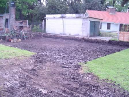 estabilizar suelo arcilloso, desmalezamiento