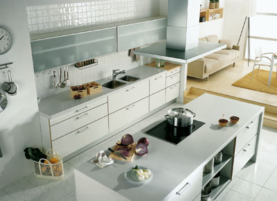 Cocinas modernas con isla central arquigrafico for Isla de cocina con mesa