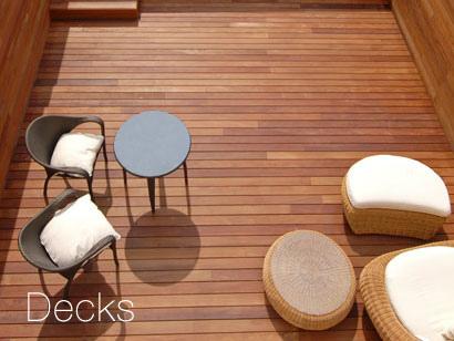 Decks de Madera, buena opcion para dar un ambiente calido a tus pisos