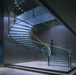 escaleras de cristal apple tienda