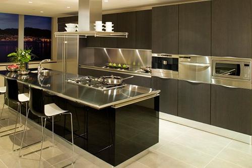 cocina moderna acero inoxidable