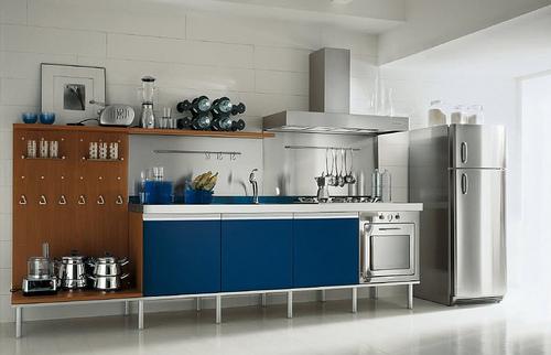 Cocinas modernas de acero inoxidable arquigrafico for Cocinas de acero inoxidable para restaurantes