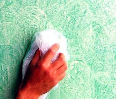 Tecnicas decorativas de pintura en paredes - Formas de pintar paredes con esponja ...