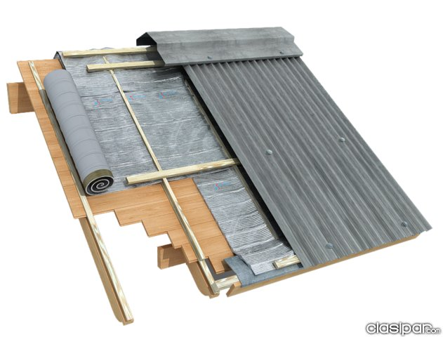 Manta termica de aluminio para techos for Cubiertas para techos livianas