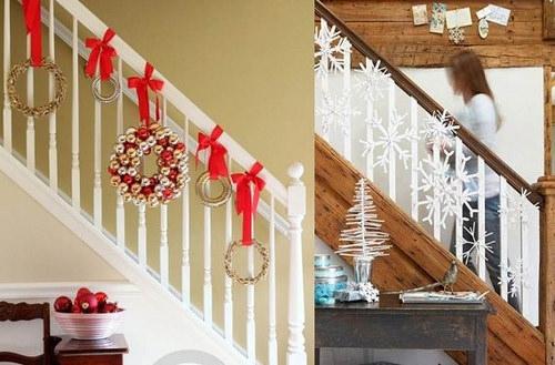 C mo decorar una escalera en navidad arquigrafico for Adornos navidenos para escaleras