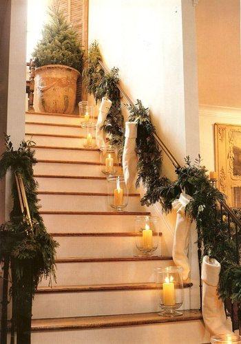 C mo decorar una escalera en navidad arquigrafico for Adornos para escaleras