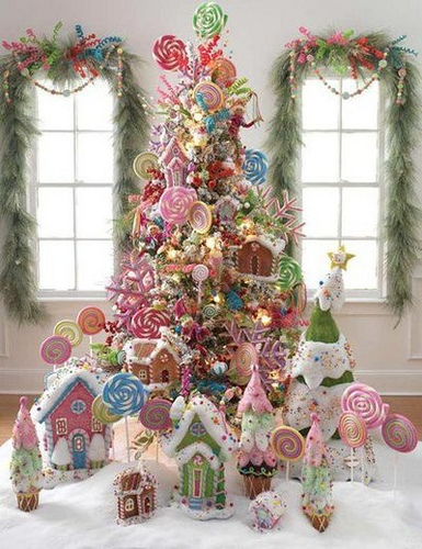 arbol de navidad con dulces