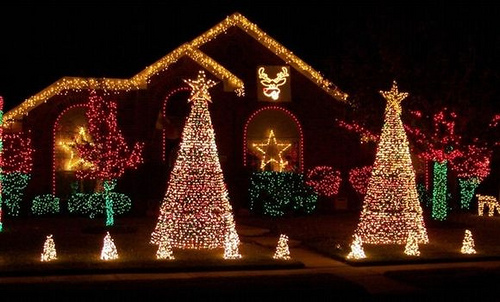 Cómo decorar con luces navideñas