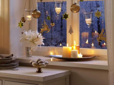 velas decoracion navidad cocina