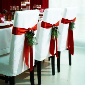 como decorar las sillas del comedor en navidad - arquigrafico