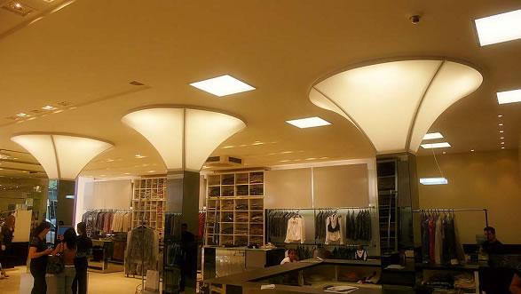 tensoflex es un sistema innovador de telas tensionadas para techos y de interior uniendo practicidad y simplicidad las telas tensionadas