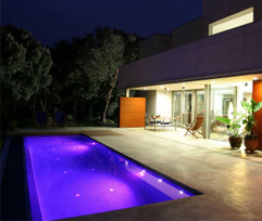 piscinas iluminacion led