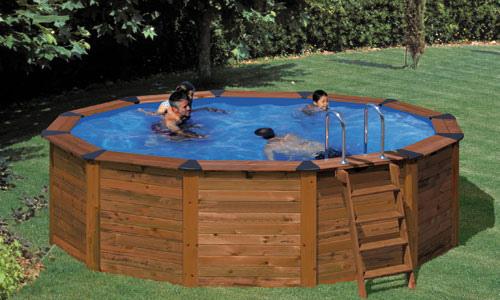 piscina portatil de madera