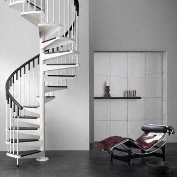 escaleras moderna de caracol