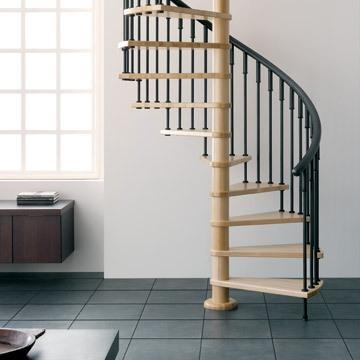 las escaleras de caracol u solucion ideal a falta de espacio