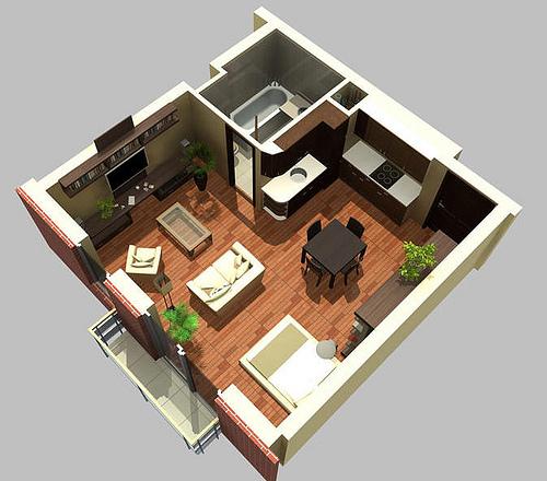 Decoracion de apartamento tipo estudio for Diseno de apartamento de soltero