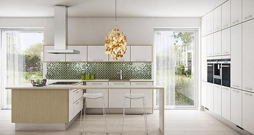 cocinas modernas blancas - Cocinas Modernas Blancas
