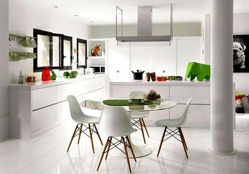 cocinas modernas de blanco