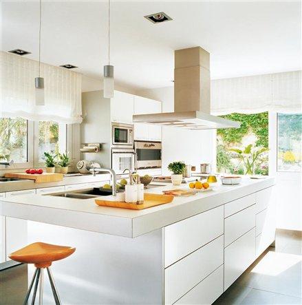 modernas cocinas blancas - Cocinas Modernas Blancas