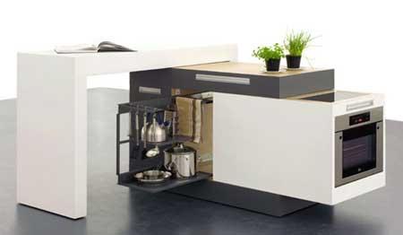 mini cocina moderna
