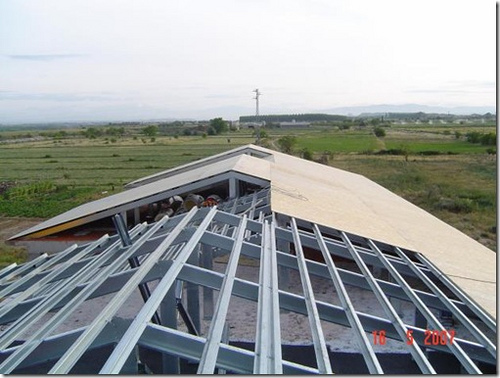 estructura techo acero