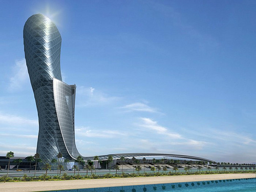 Capital Gate, la torre mas inclinada del mundo en construccion