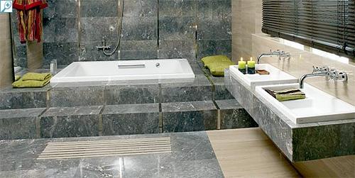 revestimiento baño marmol
