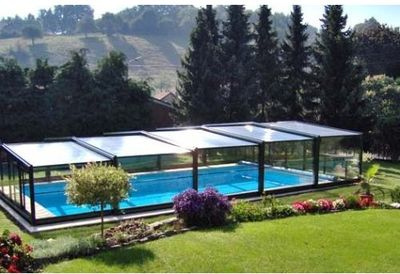 cubierta telescopica piscina