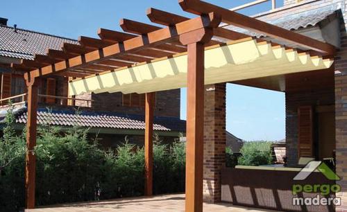 Como decorar una p rgola de jardin arquigrafico - Terrazas de madera precios ...