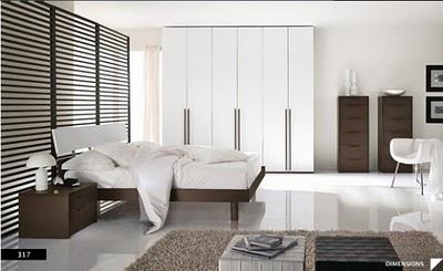 Decoracion de dormitorios marron blanco