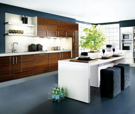 Cocinas modernas con isla central arquigrafico for Diseno de cocinas modernas con isla
