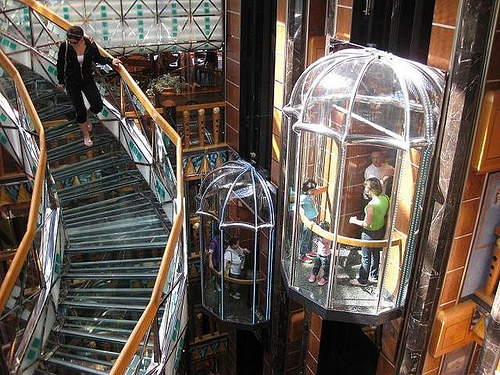 ascensor panoramico interior