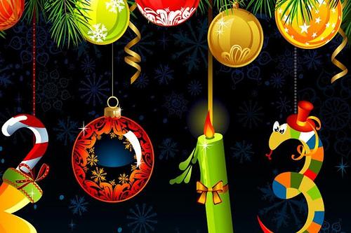 Postales Navidad y Año Nuevo 2013 para Imprimir